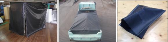 両面シリコン塗布合繊耐熱シートの用途いろいろ