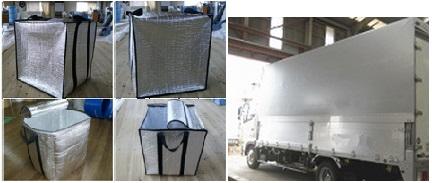 遮熱カバー、保冷箱カバーを製作します。